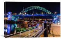 BK-29 Fishing Coble Moored at Newcastle Marina, Canvas Print