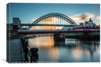 Tyne Sunrise, Canvas Print