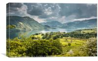 Ullswater and Glenridding from Gowbarrow Fell, Canvas Print