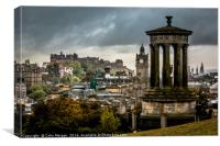 Edinburgh Castle from Calton Hill, Canvas Print