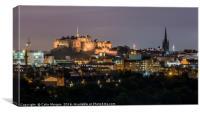 Edinburgh Castle at Night, Canvas Print