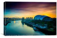 Sage Sunrise Gateshead, Canvas Print