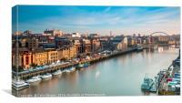 Newcastle Quayside Sunrise, Canvas Print