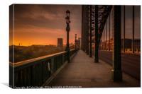Tyne Bridge Glow, Canvas Print