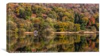 Rydal Water Boathouse Autumn Reflections, Canvas Print