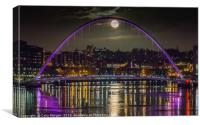 Full Moon on the Tyne, Canvas Print