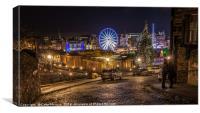 Edinburgh Christmas Lights, Canvas Print