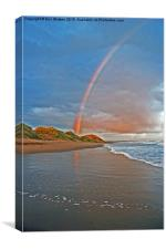 Rainbow On Beach, Canvas Print