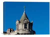 Aberdeen old Post office Tower Crown Street, Canvas Print