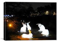 Aberdeen Bunny Sculptures, Canvas Print