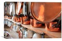 Copper Pots, Canvas Print