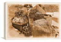 Lobster Pots, Canvas Print