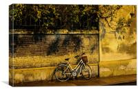Free Cycle. A lonely bike in Cambridge., Canvas Print