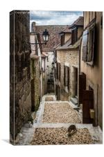 Back Street Perigueux, Canvas Print