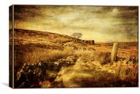 Top Withens of old, Canvas Print