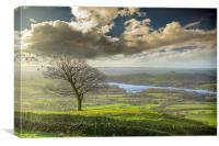 A view of Tittesworth Reservoir , Canvas Print