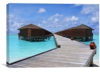 Maldives Water villas, Canvas Print