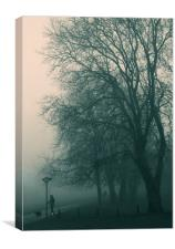 Foggy day, Canvas Print