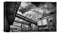 Grimsby Docks Old Ice Factory, Canvas Print