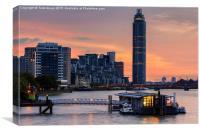 St George's Wharf River Thames London, Canvas Print