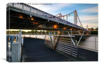 Chelsea Bridge Sunset, Canvas Print