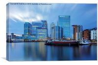 Dockland City, Canvas Print
