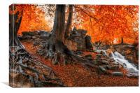 Autumn Cascade, Canvas Print
