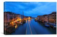 Ponti Di Rialto Venice, Canvas Print