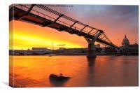 Millennium Bridge, Canvas Print