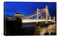 Albert Bridge , Canvas Print