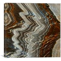 Vellin-gluz Rocks, Porthleven, Cornwall, Canvas Print