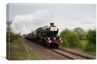 The Cheltenham Flyer Steam train passing near Swin, Canvas Print