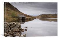 Old Boathouse on Llynnau Cregennen Snowdonia, Canvas Print