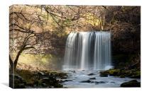Waterfalls at Brecon, Canvas Print