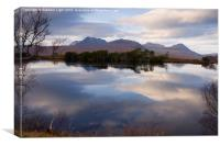 Relections - Loch Cul Dromannan, Scottish Highlan, Canvas Print