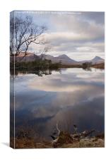 Reflections across the Loch, Canvas Print