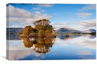 Autumn reflections, Milarrochy Bay, Canvas Print