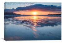 Summer Sunset Over Balnakeil Bay , Canvas Print