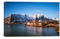 Sakrisoy village, Lofoten islands , Canvas Print