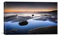 Winter Twilight, Sandsend , Canvas Print