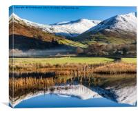 Hartsop Reflected , Canvas Print