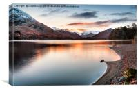 Dawn Light On Ullswater, Canvas Print