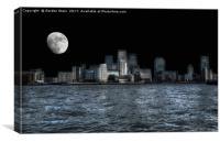 Moonlit Wharf, Canvas Print