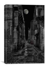 Dark Alleyways, Canvas Print