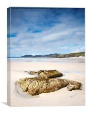 Traigh Iar beach, Isle of Harris, Canvas Print