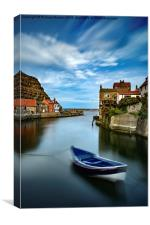 """Leading Light"", Staithes, Canvas Print"