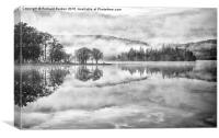 Misty Morning Ledard Point, Loch Ard, Canvas Print