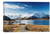 Stromsnes, Lofoten Isles, Canvas Print