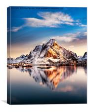 Reine Sunrise, Canvas Print