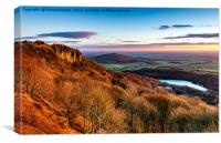 Winter Sunset Over Sutton Bank, Canvas Print